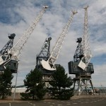 Cranes at Leith Docks