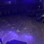 Lights on the dancefloor in our main hall