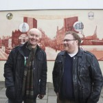 Tom Ewing and Irvine Welsh unveil the mural